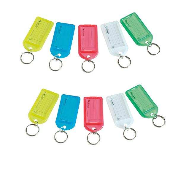 Lot de 10 porte-clés incassables transparents couleurs assortis 5bc626d6426