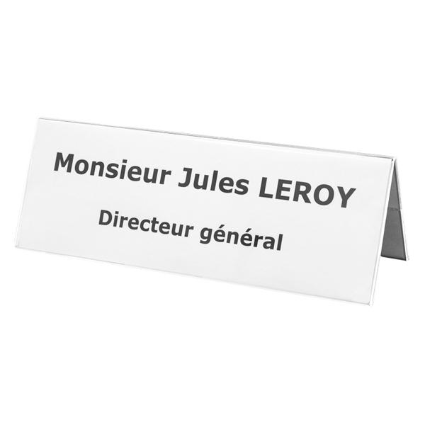 Chevalets De Bureau Et Porte Noms Double Face Plexiglass