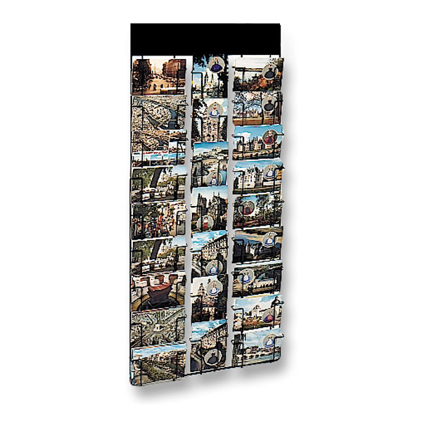 Présentoir mural cartes postales 105 x 150 mm