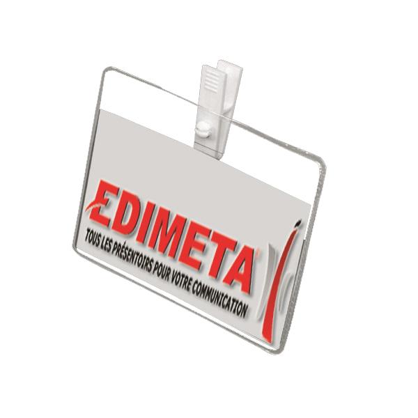 meilleur fournisseur réflexions sur dernière collection Badges souples durables avec pince plastique 60x87 mm