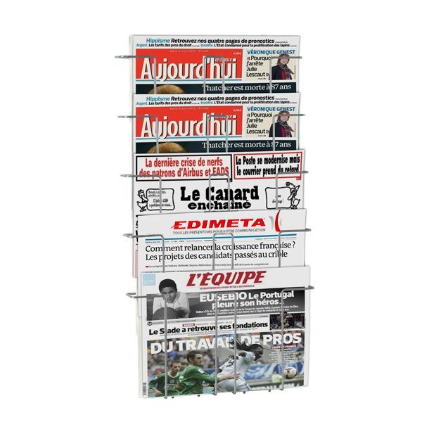 Porte journaux mural 5 cases for Porte journaux mural