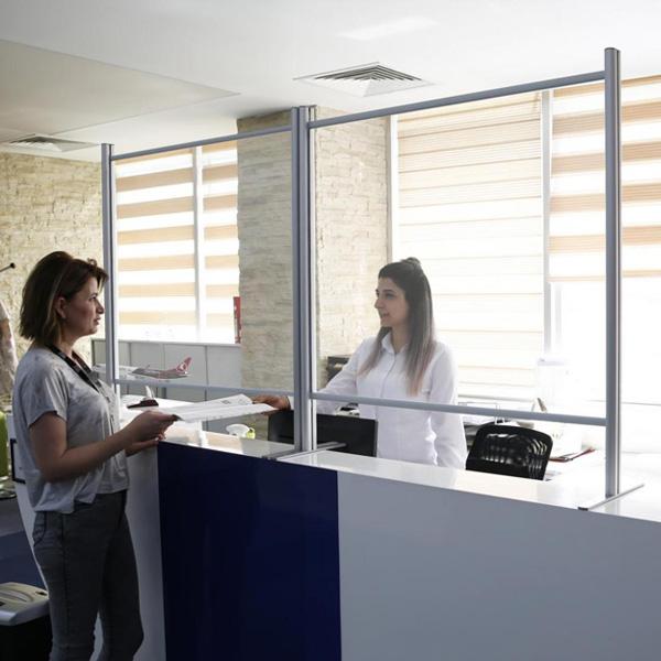 Protection Plexiglas Cloison S/éparateur De Bureau pour Bureaux Biblioth/èques Salles De Classe Pharmacies Size : 80 * 60cm Qianduoduo888 Protection Plexiglass Comptoir