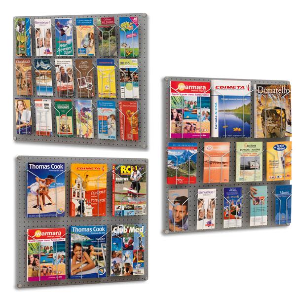 Pr sentoir brochures mural visiodoc modulable - Presentoir photos mural ...