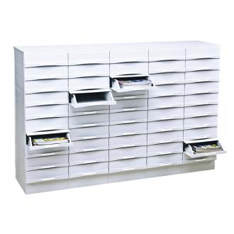 Meuble de classement 50 tiroirs burobox for Meuble classement papier