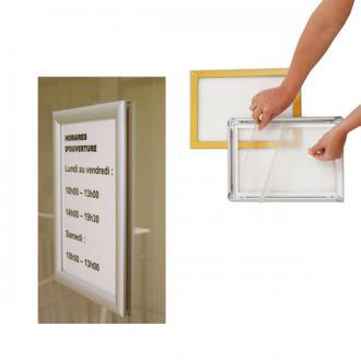 cadre clic clac alu double face vitrine a5 a4 a3 a2 a1 a0 ou 60x80cm. Black Bedroom Furniture Sets. Home Design Ideas