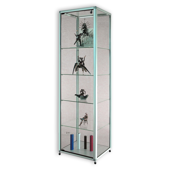 vitrines d 39 exposition mobiles verre tremp s curit aluminium pour mus es site culturels h180. Black Bedroom Furniture Sets. Home Design Ideas