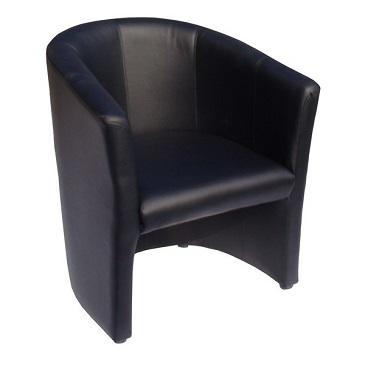 chauffeuse accueil simili cuir noir pour accueil. Black Bedroom Furniture Sets. Home Design Ideas